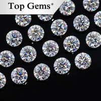 Loose moissanite Stone F Color Round Brilliant Cut Excellent Grade VVS White