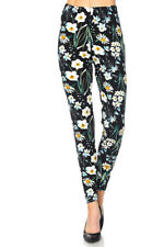 ONE SIZE Leggings TC/OF556 Buttery Soft Always Brushed Black w/Print