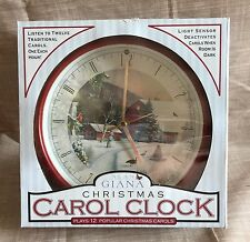 Alan Giana Christmas Carol Clock Plays 12 Popular Christmas Carols Light Sensor