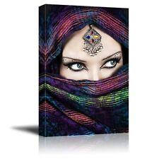 "Canvas Prints - Arabic Woman with Beautiful Eyes   Modern Wall Decor- 12"" x 18"""