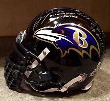 Ray Lewis Ed Reed SB XLVII XXXV Team Signed Game Issued Ravens Pro Helmet JSA