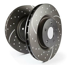 EBC Turbo Grooved Rear Solid Brake Discs for Toyota Auris 2.0 TD (2012 on)