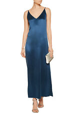 EQUIPMENT Racquel Silk Slip Dress in Majolica Blue Size Small S