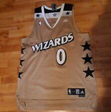 RARE VINTAGE Adidas NBA Washington Wizards Gilbert Arenas 0 Gold  Jersey Mens M