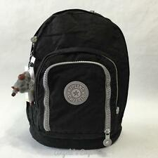KIPLING HIKER BP2128 Expandable School Backpack Travel Bag Black Mint Trim