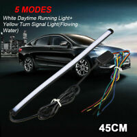45cm Car Switchback LED Light Strip Tube Lamp DRL Sequential Flow Turn Signal