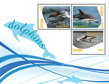 Guyana-Fauna-Fish-DOLPHINS SHEETLET OF 3-new issue