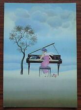Carte postale Duo,Francoise de Gail ,peinture naive ,postcard
