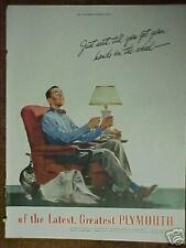 1945 Plymouth Chrysler Car Corp Can't Wait to Drive Automotvie Promo Trade Ad