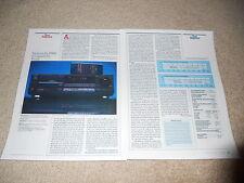 Technics SL-P990 High End CD PLayer Review, 2 pg, 1988, Full Test, Specs, Info
