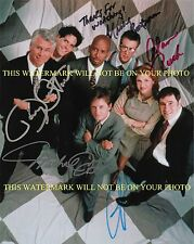 SPIN CITY AUTOGRAPHED CAST 8x10 RP PHOTO BY 5 MICHAEL J FOX ALAN RUCK BOATMAN