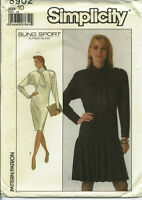 S 8902 sewing pattern Pullover DRESS sew Flounce ALFRED SUNG sew size 10 *UNCUT*