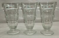 Set of 3 Vintage Maxwell House Cappuccino Coffee Milkshake Glass Mug Cup Clear