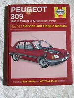 PEUGEOT 309 PETROL 1986 ~ 1993 1266 HAYNES SERVICE & REPAIR MANUAL