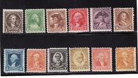 Scott # 704 - 715.. Washington Bicentennial Set....Mint OG NH..Catalog 33.25