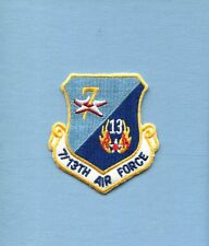 7th  13th AIR FORCE USAF SQUADRON COMMAND Hat Jacket Patch