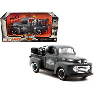 1948 Ford F-1 Pickup Truck and 1942 Harley-Davidson WLA Flathead Motorcycle M...