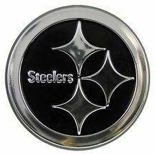 Pittsburgh Steelers Silver Auto Emblem [NEW] Car Truck NFL Sticker Decal CDG