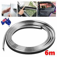 6M PVC Car Body Door Edge Protector Strip Guard Moulding Trim Auto DIY Silver
