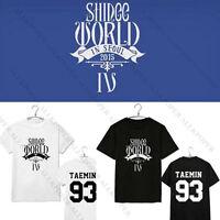 KPOP SHINee T-shirt World IV In Seoul Concert Tshirt Min Ho Jong Hyun Key Tee
