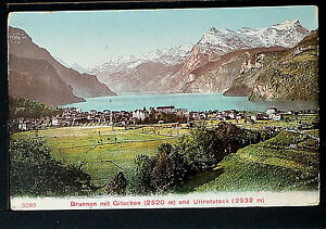 SWITZERLAND 235-1907 Brunnen mit Gitschen (2520 m) und Urirotstock (2932 m)