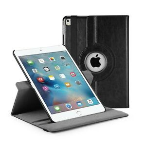 Black Leather 360° Rotating Stand Case For iPad PRO 9 INCH UK FREE DISPATCH