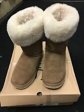 BEIGE BOOTS 3 GENUINE SNOWPAW Sheepskin Boots Uk 3 In Box