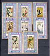 AJMAN 1971  8 BLOCS IMPERFORED  BIRDS MNH