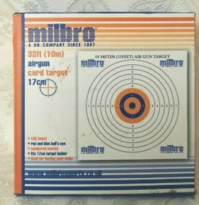 MILBRO 17cm Thick Card Targets Air Rifle Pistol Air Targets Red Blue P786