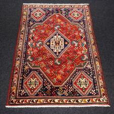 Orient Teppich Rot 152 x 106 cm Dunkelblau Perserteppich Handgeknüpft Red Carpet