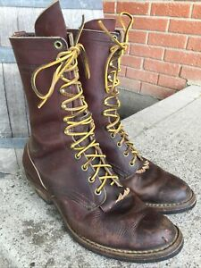 Vtg Whites Hathorn Packer Leather Riding Work Boots USA Size 8 1/2 E!!!