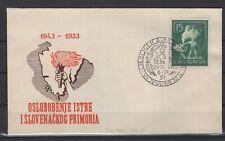 JUGOSLAVIA LETTER, 1953, Mi. 733 FDC