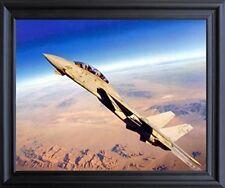 Grumman F-14 Tomcat Jet Aviation Aircraft Picture Black Framed Art Print (19x23)
