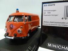 1:43 Minichamps VW Volkswagen T1 Kastenwagen Feuerwehr Solingen 1966 430052270