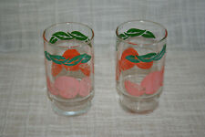 Vintage Orange Leaf Drinking Juice Glasses