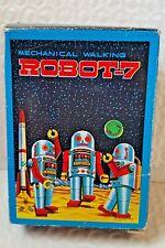 ROBOT-7  Mechanical Walking Robot-7 WindUp  BOX ONLY no robot ~ Cosmic Artifacts