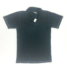 NWT Kai Bean Kids Boys' Navy Blue Short Sleeve Vneck Collard Shirt in Size 5/6
