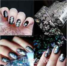1stk Holo Nagelfolie Transferfolie Zauberfolie Nail Art Foils Feder Muster B65