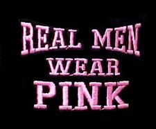 Breast Cancer T Shirt M Real Men Wear Pink Awareness Black Cotton Blend New