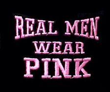 Breast Cancer T Shirt XL Real Men Wear Pink Awareness Black Cotton Blend New