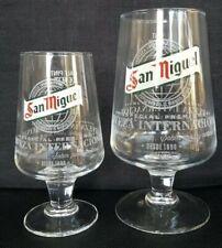 2 X San Miguel Glases 1 X Pint + 1 X Half Pint Glas NEW Home Bar Pub Gift CE