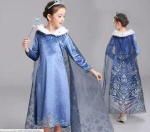 New Elsa Dress Girls Party Princess Fancy Costume Kids party Oufit