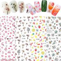3D Nagel Aufkleber Transfer Decals Sommer Obst Serie Nail Art Stickers Maniküre