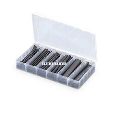 Kit 100 tubos 10cm Cinta termoretractil Aislante PVC, Negra negro