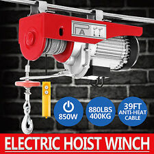 200/400KG Electric Hoist Winch Lifting Engine Crane Overhead Lift Cable Remote