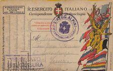 """C6620) WW1 FRANCHIGIA PRESTITO,  BOLLO """"8 REGG. ALPINO - COMPAGNIA PRESIDIARIA"""""""