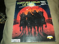 "ALBUM DIAMOND ""TORTUES NINJA 3 III - LE FILM"" complet (GENRE PANINI)"