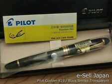 Pilot (NAMIKI) Custom 823 Black Smoke 14K Broad-nib Plunger-vacuum fill system