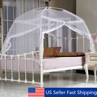 US White Portable Folding Mesh Insect Bed Canopy Dome Tent Mosquito Net  US US
