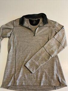 Kuhl Mens Large Gray Lightweight 1/4 Zip Hiking Pullover Longsleeve